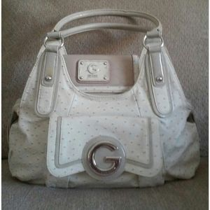 Ivory Spotted G By Guess Tote